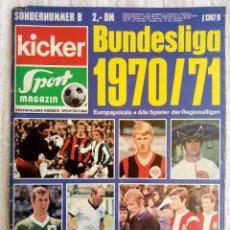 """Coleccionismo deportivo: KICKER. """"BUNDESLIGA SONDERHEFT 1970/71"""". Lote 212182928"""