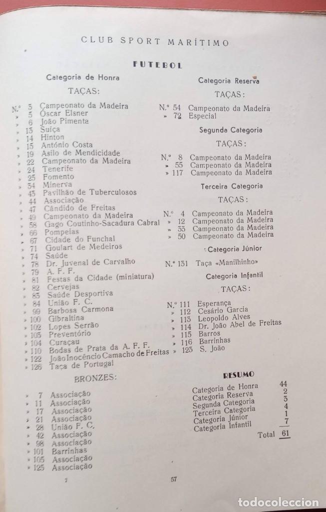 Coleccionismo deportivo: CLUB SPORT MARÍTIMO - 1910 - 1945 - FUNCHAL MADEIRA - FIRMA AUTOR - FOTOGRAFIAS - RARO Y ÚNICO - Foto 24 - 212423956