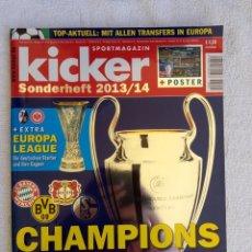 """Coleccionismo deportivo: KICKER. """"CHAMPIONS LEAGUE 2013/2014"""".. Lote 212544877"""