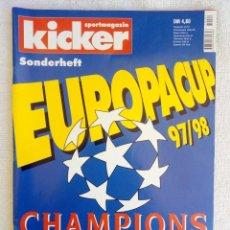 """Coleccionismo deportivo: KICKER. """"CHAMPIONS LEAGUE 1997/1998"""".. Lote 212550638"""