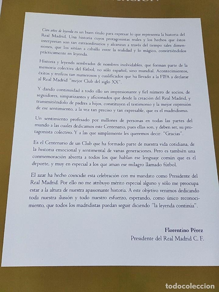 Coleccionismo deportivo: Libro Cien Años de Leyenda 1902-2002. Real Madrid - Libro Oficial Centenario - Ed. Everest, Año 2002 - Foto 2 - 213499461