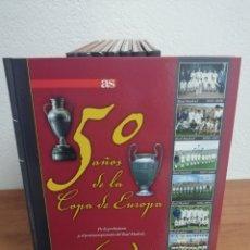 Coleccionismo deportivo: 50 AÑOS DE LA COPA DE EUROPA - COLECCIÓN COMPLETA 8 TOMOS - DIARIO AS 2005. Lote 213677575