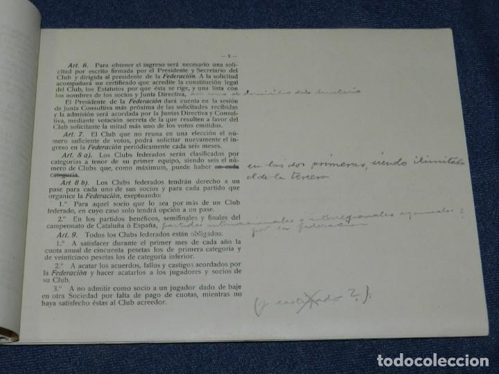 Coleccionismo deportivo: LIBRO REGLAMENTO DE LA FEDERACIÓN FOOTBALL ASOCIACIÓN CATALUÑA 1912 / 1913, MUY RARO - Foto 3 - 214433251