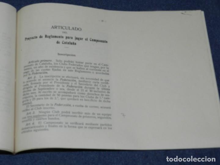 Coleccionismo deportivo: LIBRO REGLAMENTO DE LA FEDERACIÓN FOOTBALL ASOCIACIÓN CATALUÑA 1912 / 1913, MUY RARO - Foto 5 - 214433251