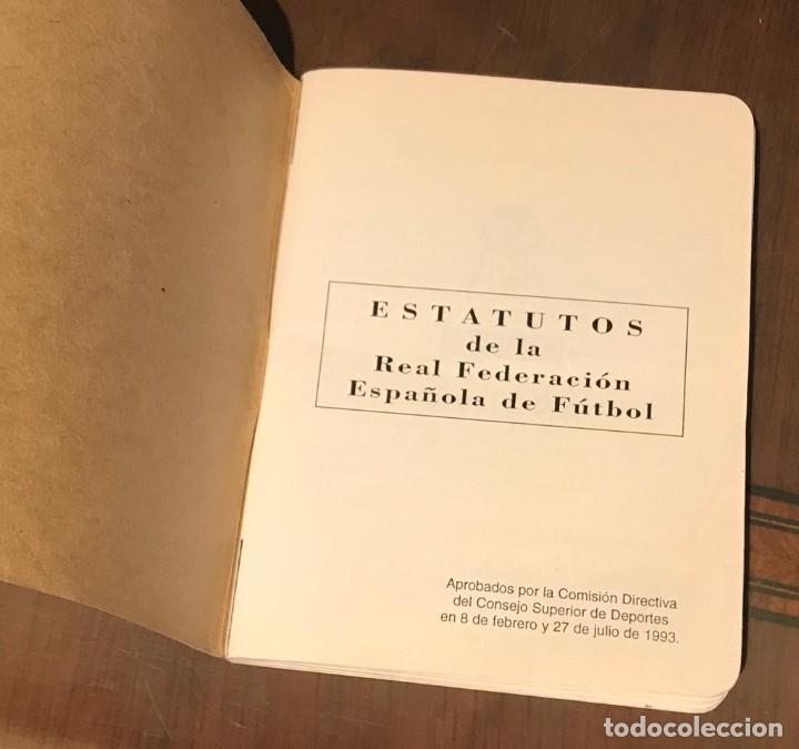 Coleccionismo deportivo: ESTATUTOS Y REGLAMENTO DE LA REAL FEDERACIÓN DE FÚTBOL ESPAÑOLA - AÑO 1983 - Foto 5 - 215271153