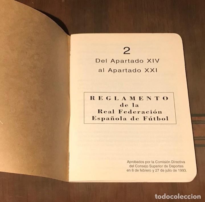 Coleccionismo deportivo: ESTATUTOS Y REGLAMENTO DE LA REAL FEDERACIÓN DE FÚTBOL ESPAÑOLA - AÑO 1983 - Foto 7 - 215271153