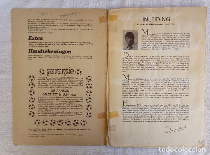 "Coleccionismo deportivo: ALBUM VANDERHOUT. ""VOETBALSTERREN IN AKTIE. NEDERLANDSE EREDIVISIE 1971/1972"". - Foto 2 - 215287972"