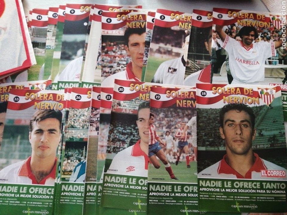 Coleccionismo deportivo: LOTE DE 42 FASCICULO SOLERA DE NERVIOS-SEVILLA DEL 1 AL43 FALTANDO EL 42.+PASTA.VER FOTOS. - Foto 2 - 215434255