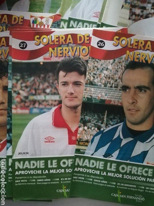 Coleccionismo deportivo: LOTE DE 42 FASCICULO SOLERA DE NERVIOS-SEVILLA DEL 1 AL43 FALTANDO EL 42.+PASTA.VER FOTOS. - Foto 3 - 215434255