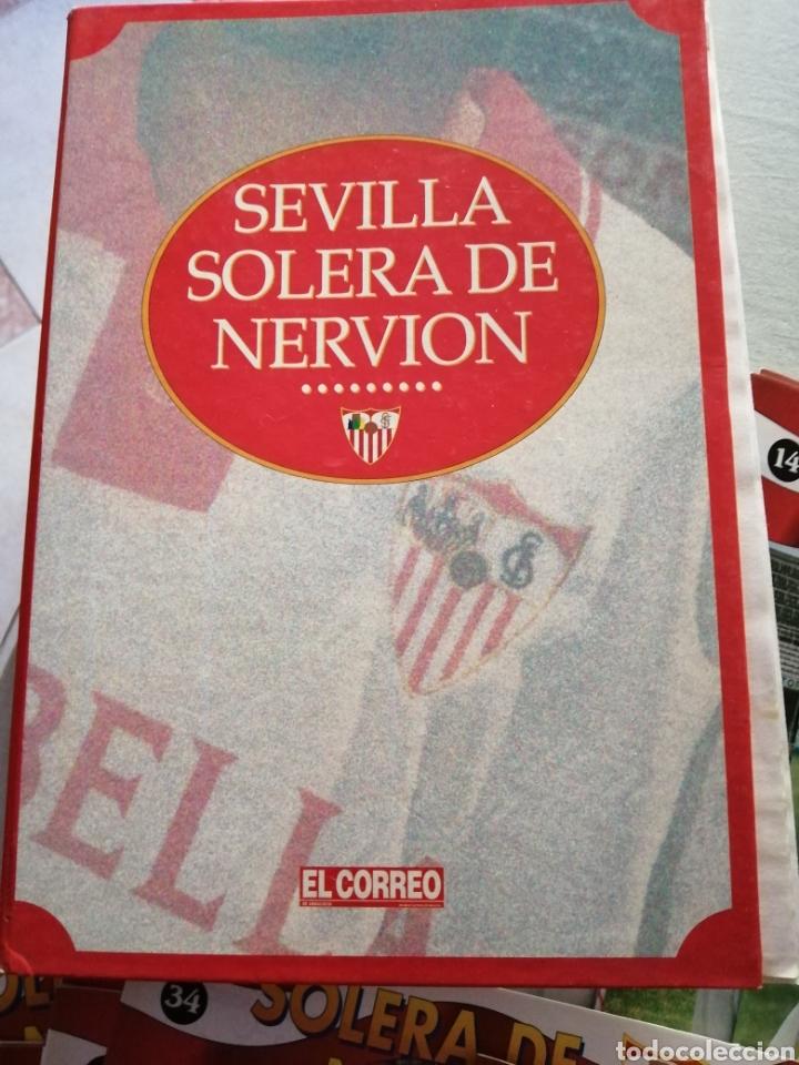 LOTE DE 42 FASCICULO SOLERA DE NERVIOS-SEVILLA DEL 1 AL43 FALTANDO EL 42.+PASTA.VER FOTOS. (Coleccionismo Deportivo - Libros de Fútbol)