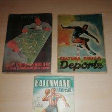 Coleccionismo deportivo: LOTE DE ANTIGUOS LIBROS SOBRE EL DEPORTE. Lote 218792633