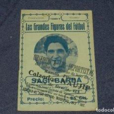 Coleccionismo deportivo: FC BARCELONA - SAGI-BARBA , LAS GRANDES FIGURAS DEL FUTBOL, PUBLICACIONES GLOBUS, AÑOS 20. Lote 219304345