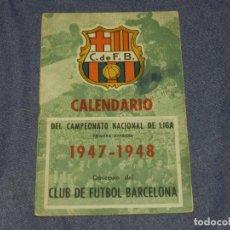 Coleccionismo deportivo: CF BARCELONA - CALENDARIO 1947 - 1948, CAMPEONATO NACIONAL DE LIGA , ESTAN APUNTADOS LOS RESULTADOS. Lote 219304877
