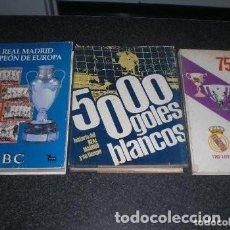 Coleccionismo deportivo: LOTE 3 LIBROS DEL REAL MADRID (VER RELACIÓN). Lote 221336396