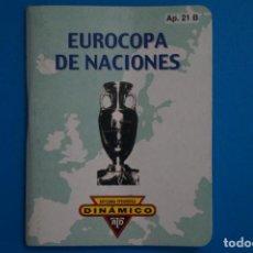 Coleccionismo deportivo: LIBRO DE FUTBOL DINAMICO EUROCOPA DE NACIONES 1988-2004 APENDICE 21 B. Lote 221539440