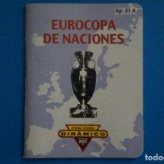 Coleccionismo deportivo: LIBRO DE FUTBOL DINAMICO EUROCOPA DE NACIONES 1960-1988 APENDICE 21 A. Lote 221539585