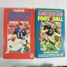 Coleccionismo deportivo: LOTE DE DOS LIBROS DE FUTBOL AMERICANO. Lote 221589157