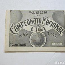 Coleccionismo deportivo: ALBUM DEL CAMPEONATO NACIONAL DE LIGA 1942 1943-CON FOTOS-EDITORIAL ALAS-VER FOTOS-(K-740). Lote 221810218