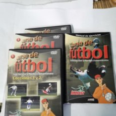 Coleccionismo deportivo: CURSO DE FÚTBOL 3 DVDS Y UN LIBRO. Lote 222345161
