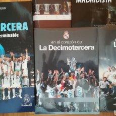 Coleccionismo deportivo: LOTE LIBRO DVD DECIMOTERCERA DVD DÉCIMA FELICITACIONES REAL MADRID. Lote 222348030