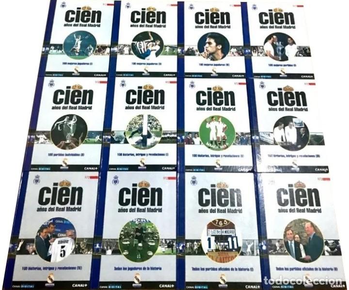 COLECCION COMPLETA CIEN AÑOS DEL REAL MADRID LIBROS 1 AL 12 DIARIO AS 2001 FUTBOL RONALDO (Coleccionismo Deportivo - Libros de Fútbol)