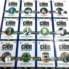 Coleccionismo deportivo: CIEN AÑOS DEL REAL MADRID: LIBROS 1 AL 12. DIARIO AS, 2001 FUTBOL RONALDO ZIDANE EL BUITRE RAUL. Lote 172187623