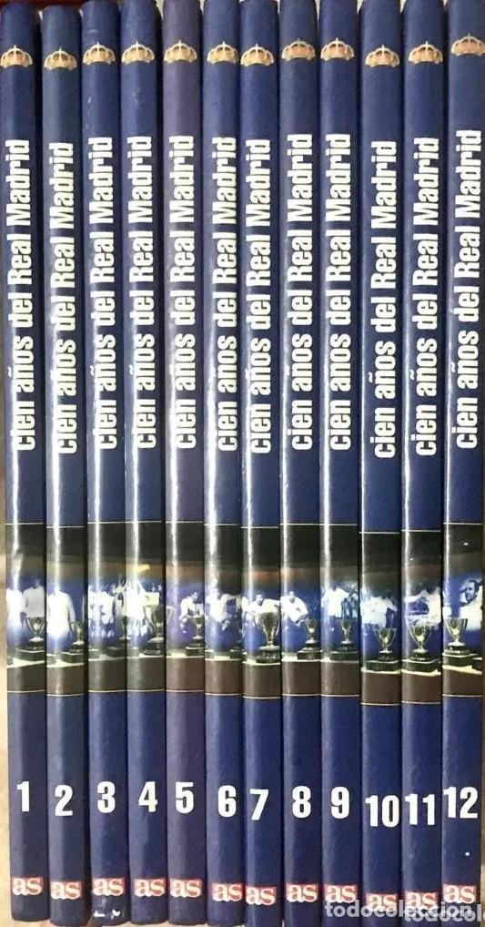 Coleccionismo deportivo: COLECCION COMPLETA CIEN AÑOS DEL REAL MADRID LIBROS 1 AL 12 DIARIO AS 2001 FUTBOL RONALDO - Foto 2 - 172187623