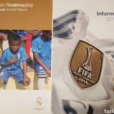 Coleccionismo deportivo: LOTE REAL MADRID ANUARIO MEMORIA FUNDACION AÑOS SUELTOS 2014 2015 2016 2017 2018 2019. Lote 222619786