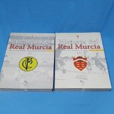 Collectionnisme sportif: HISTORIA DEL REAL MURCIA - VOLUMEN 1 1903-1924 Y 2 1924-1930 - QUIQUE BAEZA/JUAN A. GARRE/PEDRO GAR. Lote 224180032