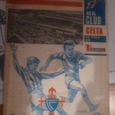 Coleccionismo deportivo: REAL CLUB CELTA DE VIGO EN 1 DIVISION 1968/1969(43×29). Lote 229623445