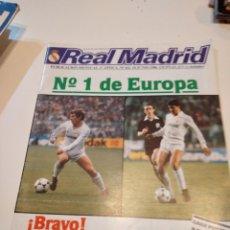 Colecionismo desportivo: G-59 REVISTA BOLETÍN INFORMATIVO DEL REAL MADRID CLUB DE FÚTBOL / BALONCESTO. 432 JUNIO 1986. Lote 229921685