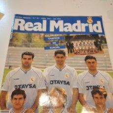 Coleccionismo deportivo: G-59 REVISTA REVISTA REAL MADRID Nº 34 ABRIL AÑO 1992 - PÓSTER REAL MADRID BALONCESTO CAMPEÓN DE EUR. Lote 229921820