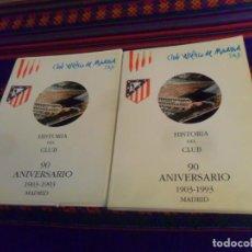 Coleccionismo deportivo: ATLÉTICO DE MADRID HISTORIA DEL CLUB 90 ANIVERSARIO 1903 1993 TOMO 1 Y ARCHIVADOR 2. HORNA EDITORES.. Lote 233957805