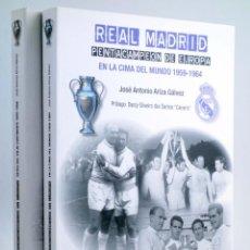 Colecionismo desportivo: REAL MADRID. PENTACAMPEÓN DE EUROPA. COMPLETA 2 VOL (ARIZA GÁLVEZ) SINÍNDICE, 2017. OFRT ANTES 43,8E. Lote 236539150