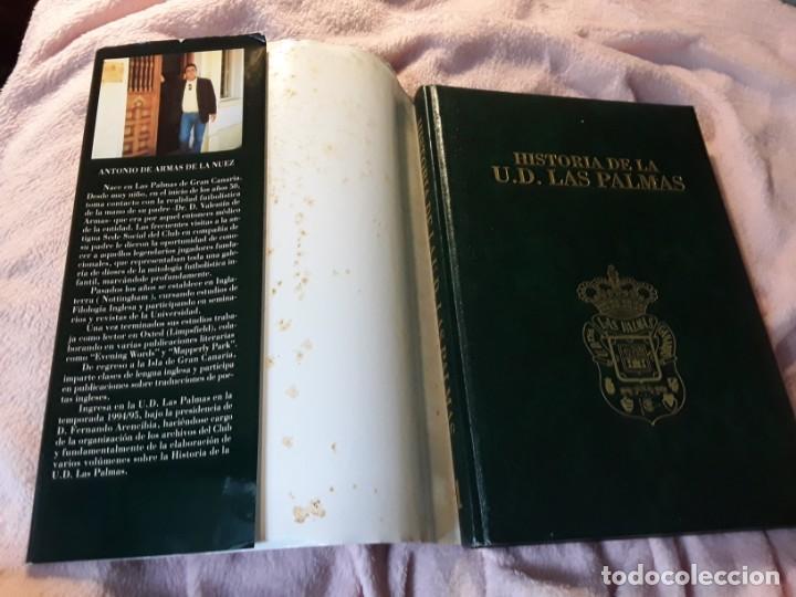 Coleccionismo deportivo: Historia de la Unión deportiva las palmas (2 tomos), de antonio de armas. Canarias - Foto 2 - 240109030