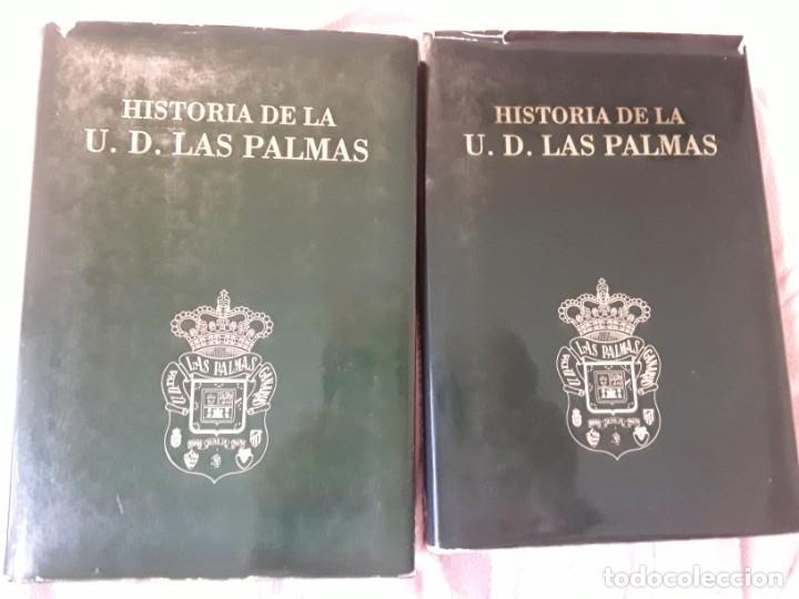 HISTORIA DE LA UNIÓN DEPORTIVA LAS PALMAS (2 TOMOS), DE ANTONIO DE ARMAS. CANARIAS (Coleccionismo Deportivo - Libros de Fútbol)