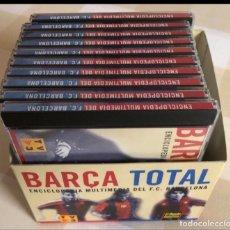 Colecionismo desportivo: FC. BARCELONA ENCICLOPEDIA MULTIMEDIA BARÇA TOTAL. Lote 244499900