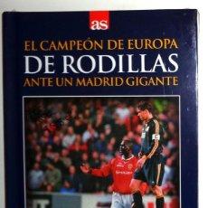 Coleccionismo deportivo: LIBRO + DVD AS - FÚTBOL COPA DE EUROPA REAL MADRID 19-4-2000 MANCHESTER UNITED OLD TRAFFORD. NUEVO!!. Lote 245023000
