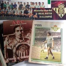 Coleccionismo deportivo: HISTORIA VIVA DEL REAL BETIS BALOMPIÉ - FÚTBOL DEPORTE JUGADORES MUCHAS FOTOGRAFÍA - ABC LIBRO ÍDOLO. Lote 245249990