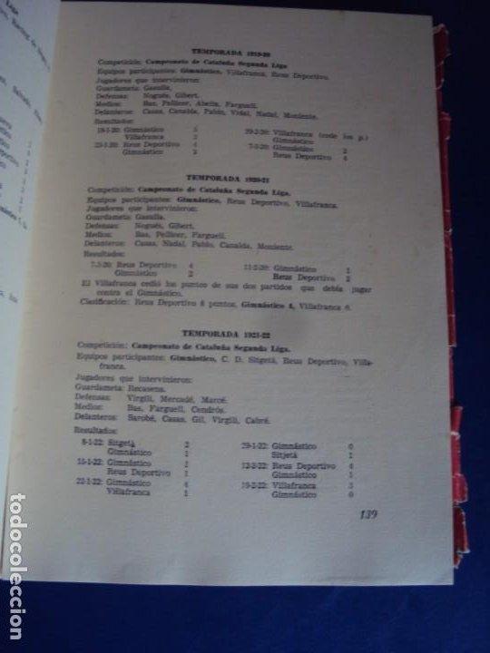 Coleccionismo deportivo: (LI-210302)Club gimnástico de Tarragona (1886-1961), de José Mª Recasens Comes. Ed. Tarragona, 1961 - Foto 8 - 245420550