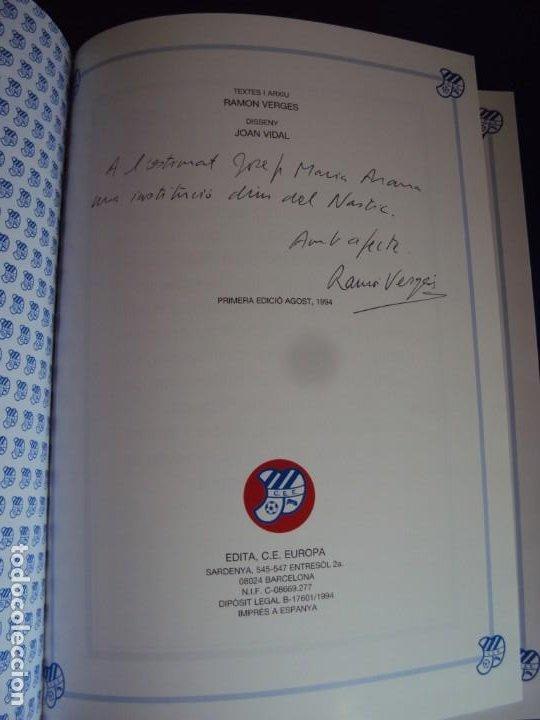 Coleccionismo deportivo: (LI-210304)C.E.EUROPA .SARDENYA: 50 ANYS DEUROPEISME (1940-1990) RAMON VERGES I SOLER.DEDICADO - Foto 2 - 245421425