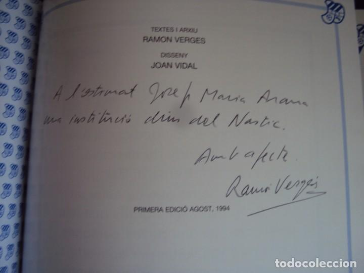 Coleccionismo deportivo: (LI-210304)C.E.EUROPA .SARDENYA: 50 ANYS DEUROPEISME (1940-1990) RAMON VERGES I SOLER.DEDICADO - Foto 3 - 245421425