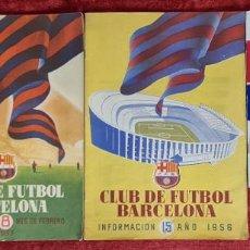 Coleccionismo deportivo: INAUGURACIÓN DEL ESTADIO DEL C.F BARCELONA. REVISTAS Y DOCUMENTACION. 1954/1957.. Lote 251766060
