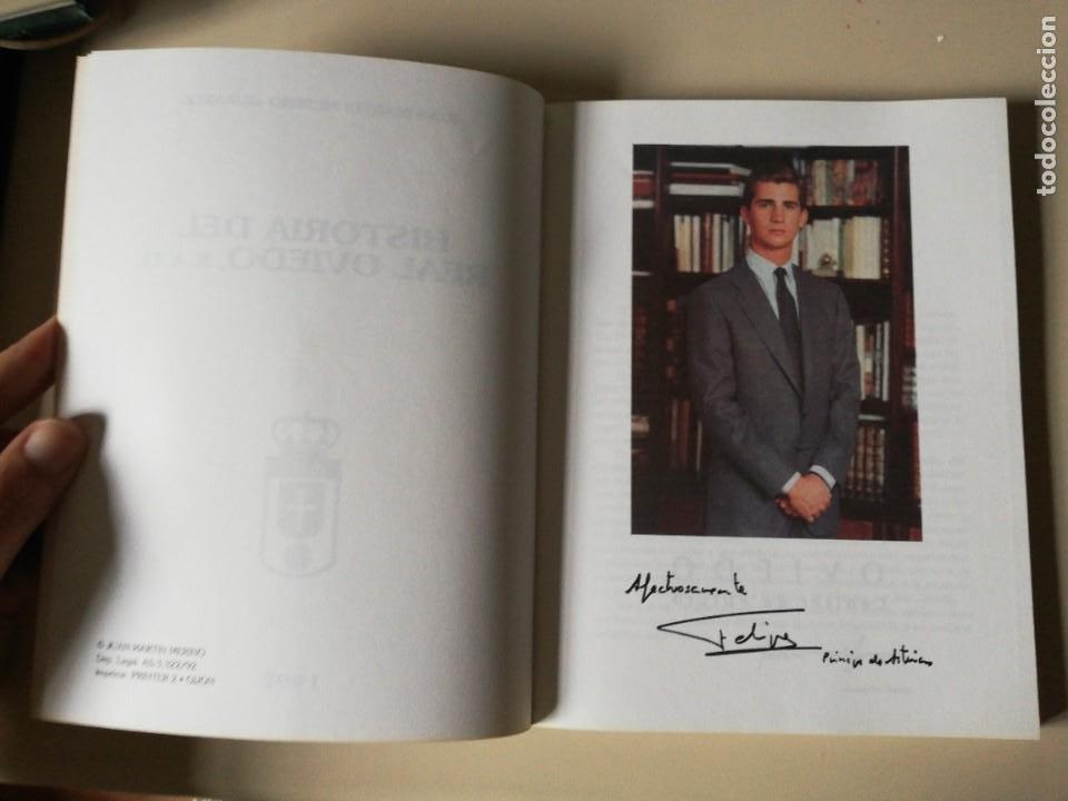 Coleccionismo deportivo: HISTORIA DEL REAL OVIEDO, S.A.D. - JUAN MARTÍN MERINO -JUANELE- 1992 - Foto 3 - 254253460