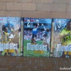 Collezionismo sportivo: HISTORIA DE LOS MUNDIALES DE FUTBOL - DIARIO AS - 3 TOMOS: 1-2-3 - LIBROS EN MUY BUEN ESTADO. Lote 254284975