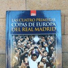 Coleccionismo deportivo: LIBRO + DVD FÚTBOL DIARIO AS REAL MADRID LAS CUATRO PRIMERAS COPAS DE EUROPA - DI STEFANO PUSKAS. Lote 254285375