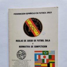 Coleccionismo deportivo: REGLAS DE JUEGO DE FÚTBOL SALA FIFUSA 1984. Lote 254488865