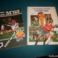 Coleccionismo deportivo: COPA DEL MUNDO DE FÚTBOL ESPAÑA 1982 (LIBRO) + FÚTBOL EN ACCIÓN M'82 (CÓMIC) NARANJITO. Lote 257423955