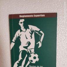 Coleccionismo deportivo: REGLAS DE JOC 7-EN VALENCIANO. Lote 261245725
