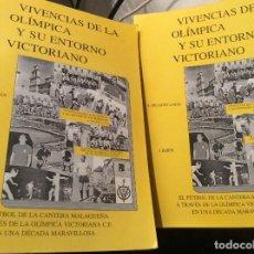Coleccionismo deportivo: A.RICARDO LUJAN - VIVENCIAS DE LA OLIMPICA Y SU ENTORNO VICTORIANO 2 TOMOS. Lote 262976515